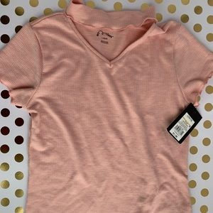 NWT blush pink girls blouse